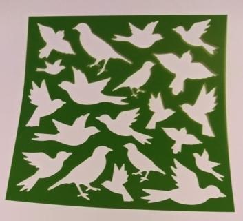 BIRD PLASTIC STENCIL SHEET
