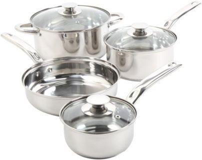 NEW! 7-Piece Cookware Set Silver