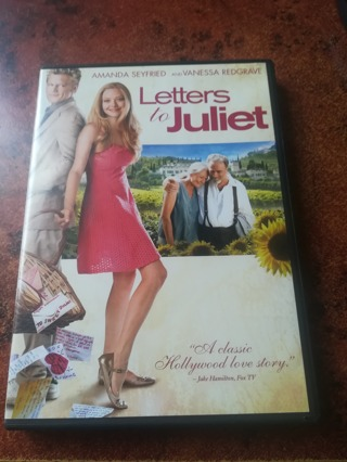 DVD Letters to Juliet Amanda Seyfried