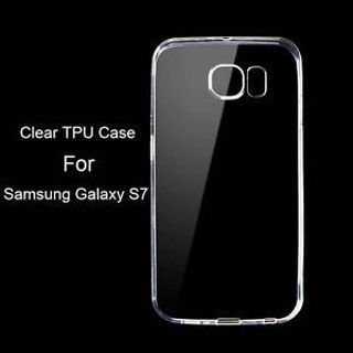 Ultra Thin Slim Clear Crystal Soft TPU Gel Case Cover Skin For Samsung Galaxy S7