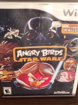 NEW WII ANGRY BIRDS STAR WARS