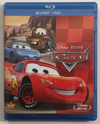 Disney Pixar Cars Blu-ray / DVD 2-Disc Combo Movie with Case and Artwork!