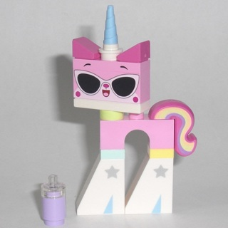 New Disco Kitty Minifigure Building Toy Custom Lego