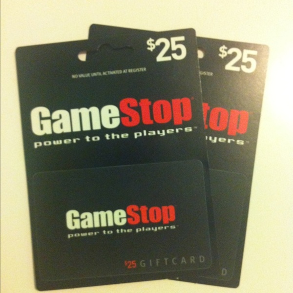 Free: $50 GameStop Gift Card (2 - $25 Each) - Video Games