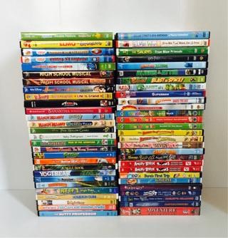 ✿‼️Lot of 55 Kids DVD Movies ~ WINNER TAKES *ALL*‼️✿