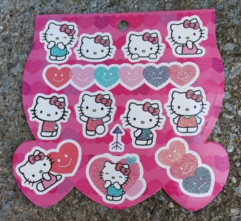 HELLO KITTY GLITTER STICKERS 3 SHEETS LOT 2
