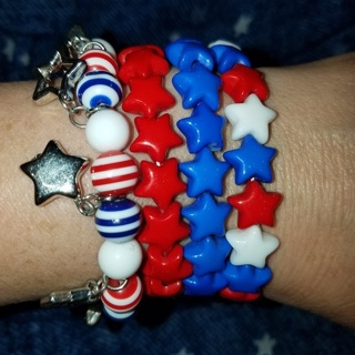 4 Patriotic Bracelets