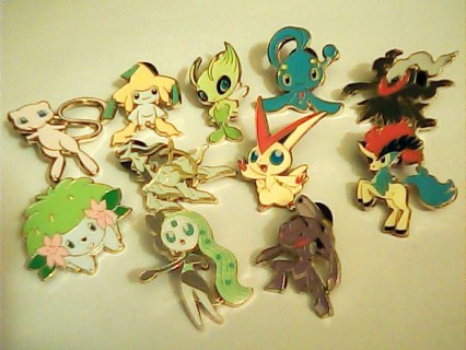 Pokemon MYTHICAL Collection Complete Pin Set (11) 20th Anniversary NM/Mint New 2016