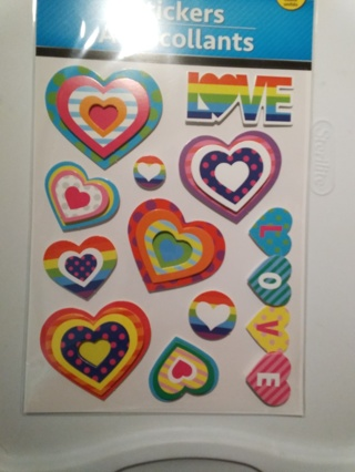Beautiful Very Colorful 3 D Love and Heart Stickers Excellant for Cardmaking & Scrapbooking