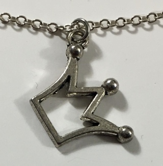 """Sterling Silver 925 18"""" Chain Necklace with Crown Pendant"""