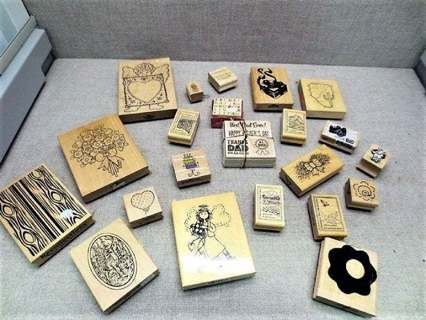 Mystery Flat Rate Priority Rubber Craft Stamps Some New