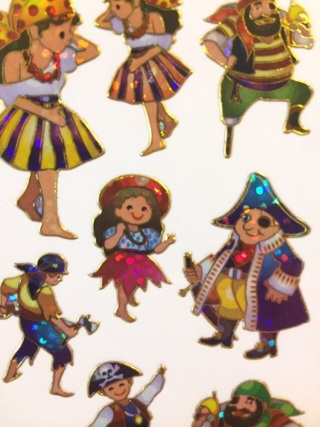 Kawaii pirate sticker sheet