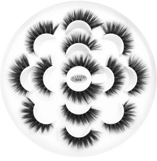 DYSILK 7 Pairs 6D Faux Mink Eyelashes Fluffy Dramatic Long False Eyelashes