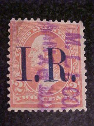1898 02 Cent Internal Revenue Stamp IR Scotts R155