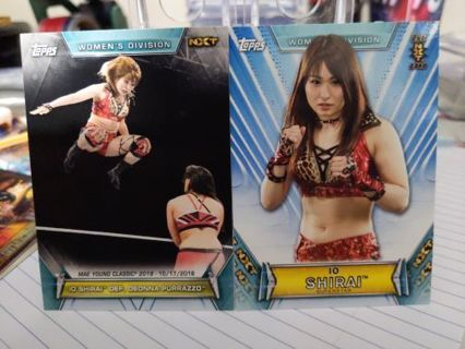 2019 Topps WWE Women's Division Io Shirai cards