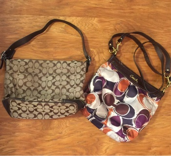 TWO Coach Purses Handbags pre-loved