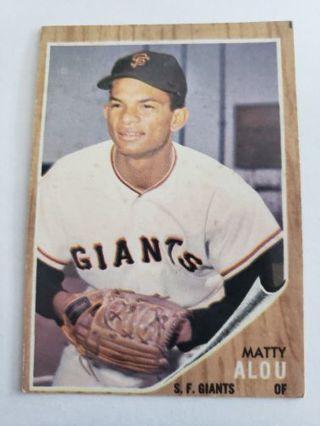 1962 topps Matty Alou San Francisco giants vintage baseball card