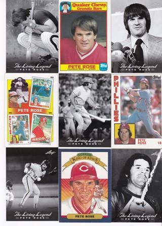 (9) Pete Rose Baseball Cards