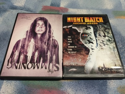 2 Horror movies DVDs - night watch + the summoning - Rated R + not rated