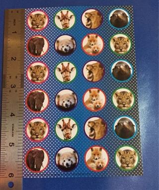 ✈️ Wild Animals Cute Sticker Sheet BRAND NEW #1 ✈️