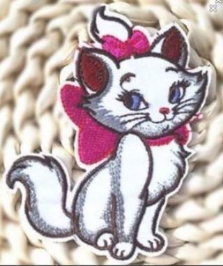 1 NEW Aristocat Cat Patch IRON ON Patch Marie Kitty Kat Clothing Embroidery Applique FREE SHIPPING