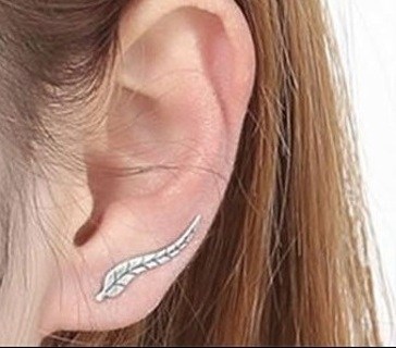 NEW Exquisite .925 Silver Leaf Earrings Modern Beautiful Minimalist Fashion Jewelry Unisex