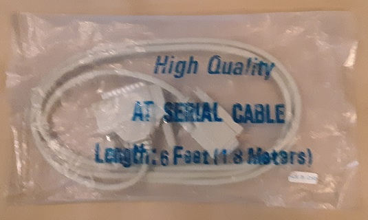 DB25 Male to DB9 Female 6 feet AT serial cable