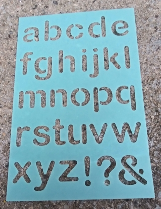 LETTERS OF THE ALPHABET STENCILS LOT 1