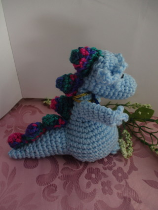 Dragon Love, Blue, New, Made by Me.