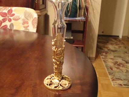 Free Antique Matson Bud Vase 23k Gold Gilded Base Antiques