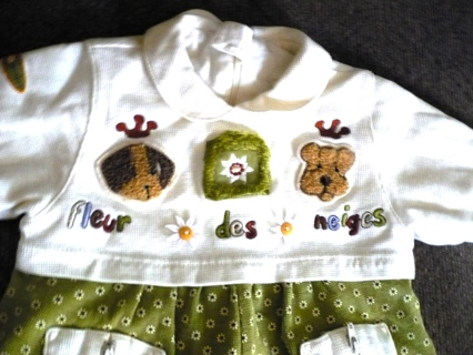 Babymini Winter Outfit, Size 03/06 months