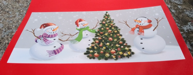 CHRISTMAS WALL DECORATION 30 INCHES X 60 INCHES LOT 2