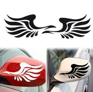 1 Pair Personality Fire Wings Image Side Mirror Car Stickers