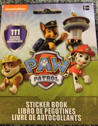 "Brand New Nickelodeon's PAW PATROL: 5"" x 4"" Sticker Book. 111 Total Stickers on 9 Pages. Ages 4+"