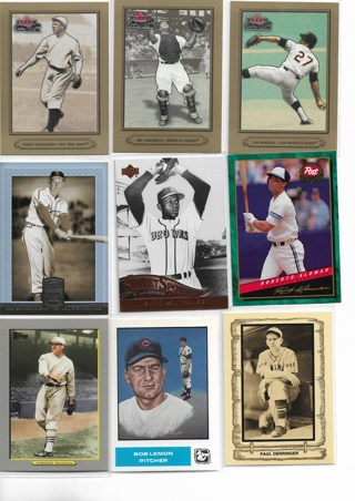 (9) Baseball Star Cards