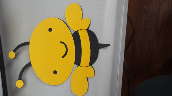 One 4 inch handmade Layered Bee Cut outs