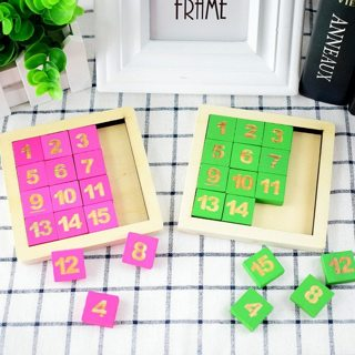 Children's Educational Number Puzzles Toys Wooden Digital Klotski Classic Montessori Intelligence