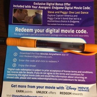 Marvels Avengers Endgame digital movie code