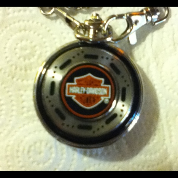 Free harley davidson pocket watch franklin mint other for Harley davidson jewelry ebay