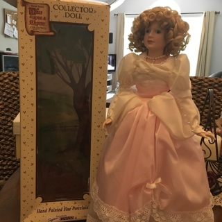 """⭐️ Collectible — 18"""" CINDERELLA Once Upon a Rhyme Collection SEYMOUR MANN Porcelain DOLL ❤️"""