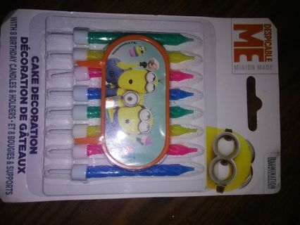 Despicable Me birthday candles