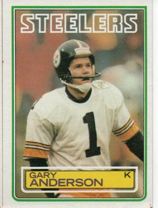 1983 Topps Gary Anderson Steelers