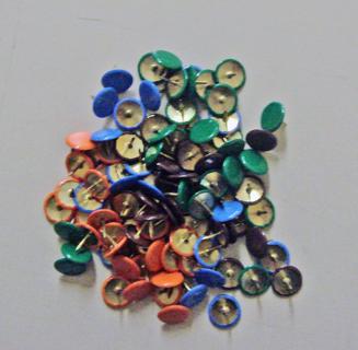 Colourful pushpins x50