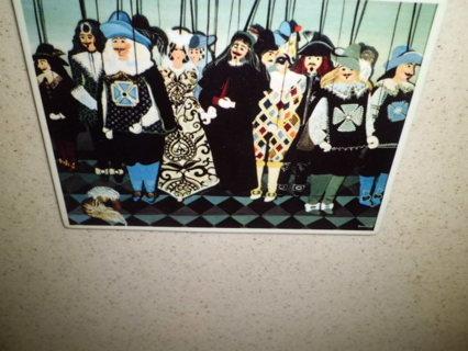 VINTAGE VILLEROY BOCH NIP W.GERMANY BEBELLE PORCELIAN POSTCARD MINT FREE SHIPPING!