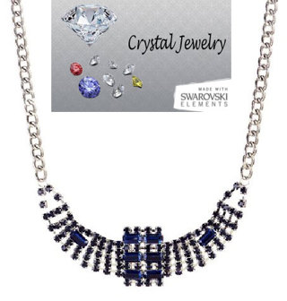 AUSTRIAN CRYSTAL NECKLACE Your Color Choice NEW BOXED