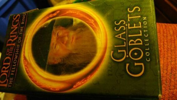Lord of the Rings Glass Goblet Gandalf Wizard New never used