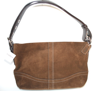 Coach Brown Suede East West Duffle Shoulder Bag Purse 11514 Nwt Msrp 298