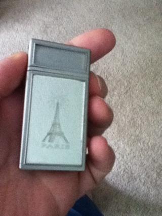Silver cigarette lighter