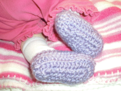 Free Newborn Ballet Slipper Baby Booties Easy Crochet Pattern