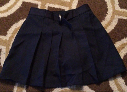 Wonder Nation Girls Navy Blue Uniform Skort Size 8 Like New